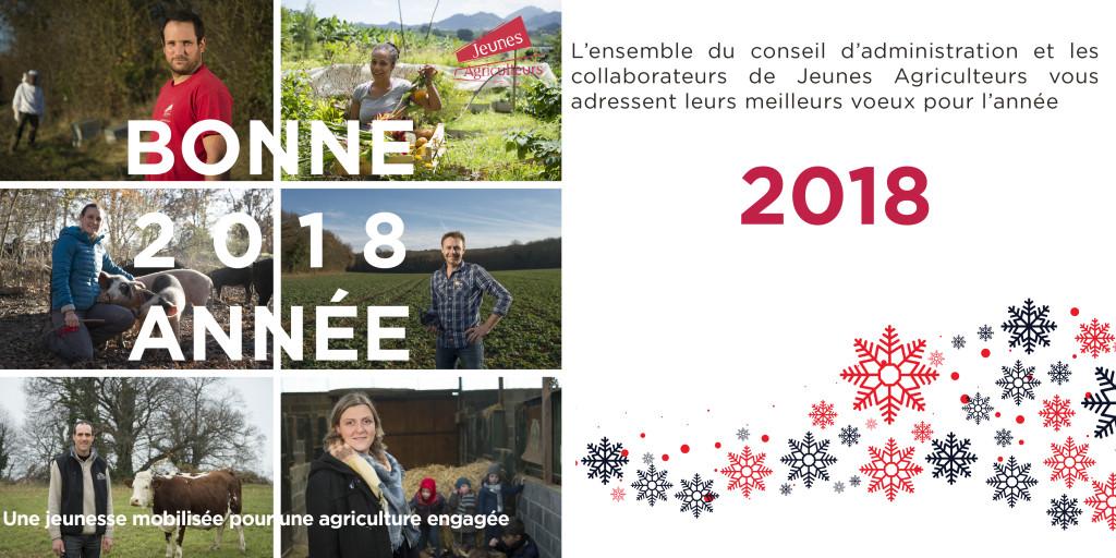 Carte voeux 2018 Jeunes Agriculteurs
